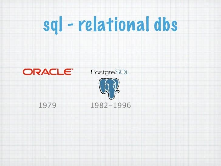 sql - relational dbs1979   1982-1996