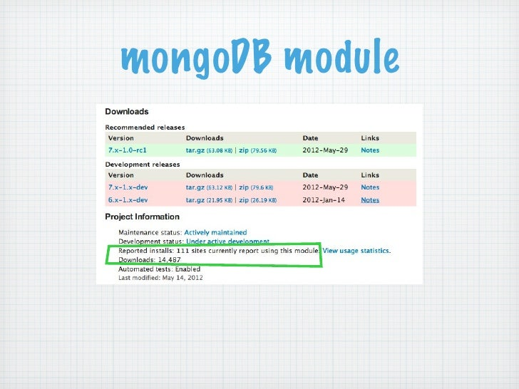 mongoDB module