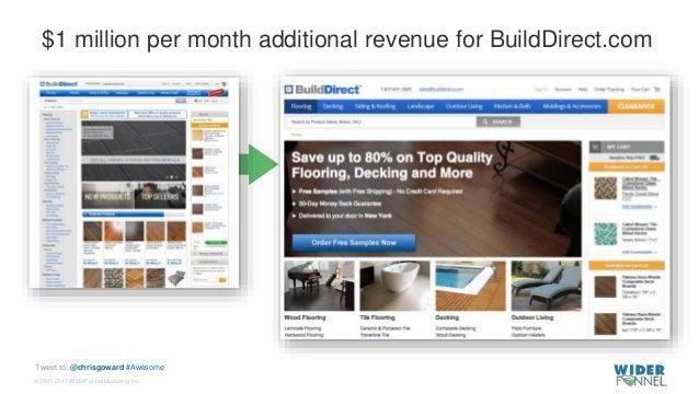 © 2007-2017 WiderFunnel Marketing Inc. Tweet to: @chrisgoward #Awesome $1 million per month additional revenue for BuildDi...
