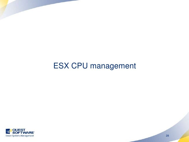 """VMware CPU management <br />If more virtual CPUs than ESX CPUs, then VCPUs must sometimes wait.<br />Time """"stops"""" inside t..."""