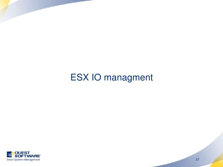 Disk Resource Allocation<br />Disk shares can be used to prioritize IO bandwidth.<br />However, ESX often does not know un...