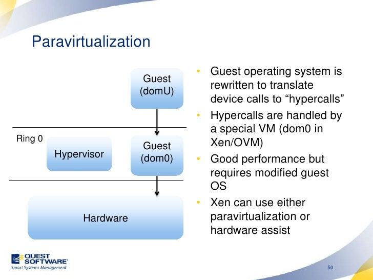 Paravirtualization and RAC<br />According to Oracle, only a paravirtualization solution can guarantee clock-synchronizatio...