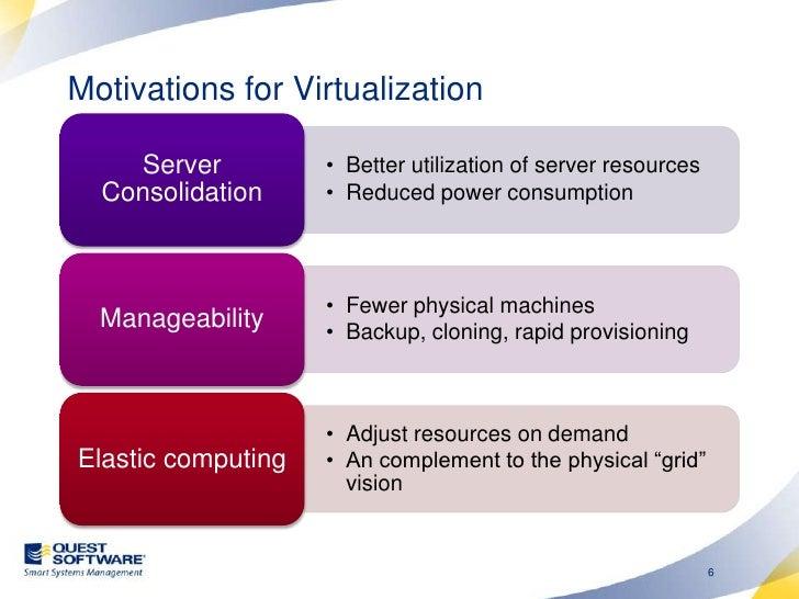 Agenda<br />Motivations for Virtualization<br />VMware ESX resource management:<br />Memory<br />CPU<br />IO<br />Paravirt...