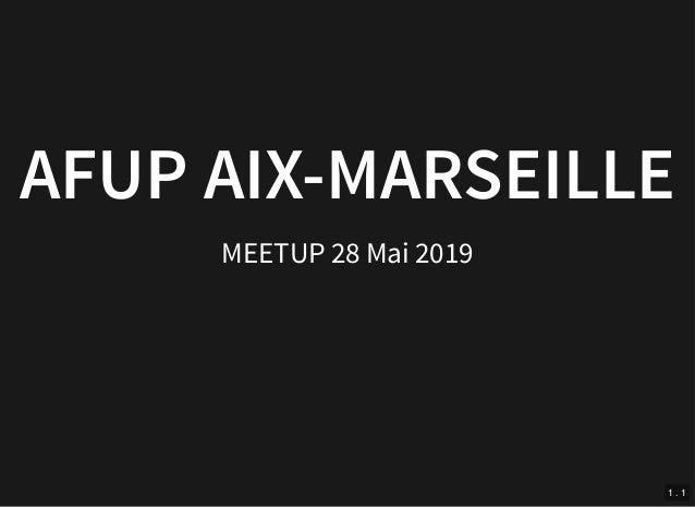 29/05/2019 MYSQL / MARIADB localhost:8383/conference/mysql/optimyzeprime.html??print-pdf#/ 1/68 AFUP AIX-MARSEILLEAFUP AIX...