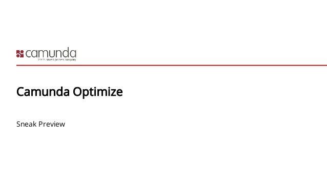 Camunda Optimize Sneak Preview