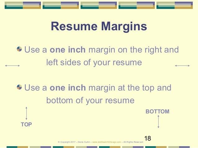 resume margin