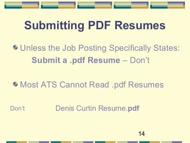 Type; 14. 14 Submitting PDF Resumes Unless The Job ...