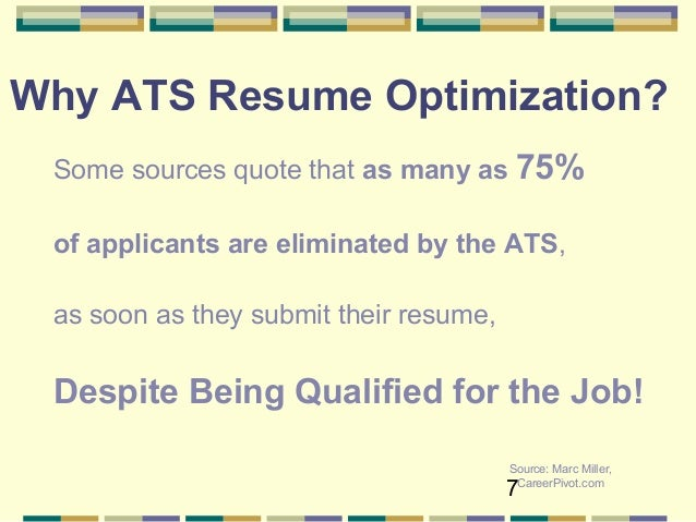 Source: Jobscan.co Blog; 7. 7 Why ATS Resume Optimization?