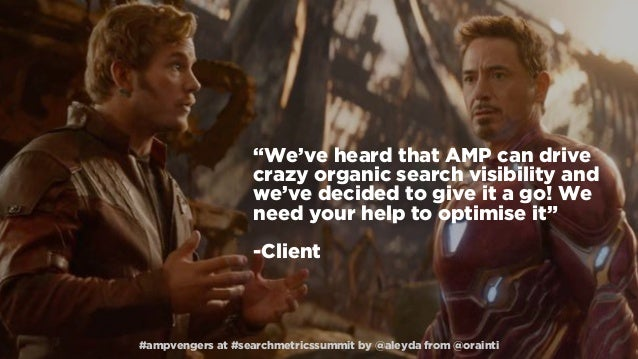 #AMPvengers: Implementing AMP while saving your SEO #SearchmetricsSummit  Slide 3