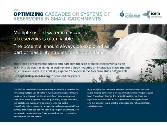 Managing impacts of dams in cascades  The results of MK3 and MK17 • Welcome and opening by Dr Bui Nam Sach • Nguyen Van Tu...