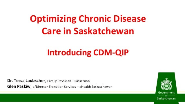 Optimizing Chronic Disease Care in Saskatchewan Introducing CDM-QIP Dr. Tessa Laubscher, Family Physician – Saskatoon Glen...