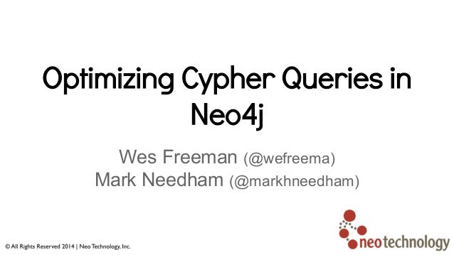 Optimizing cypher queries in neo4j