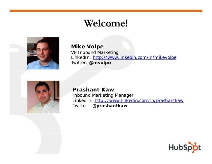 Optimizing Landing Pages for Lead Generation and Conversion Webinar Slides HubSpot Slide 2