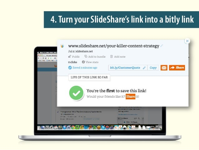 4.Turn your SlideShare's link into a bitly link