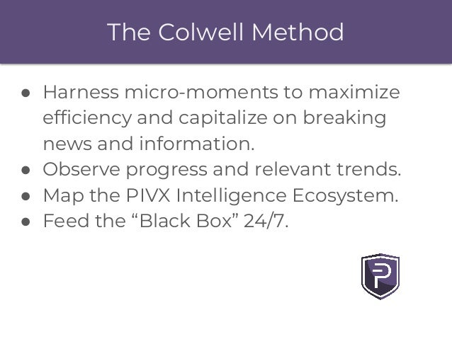 The Colwell Method ● Harness micro-moments to maximize efficiency and capitalize on breaking news and information. ● Obser...