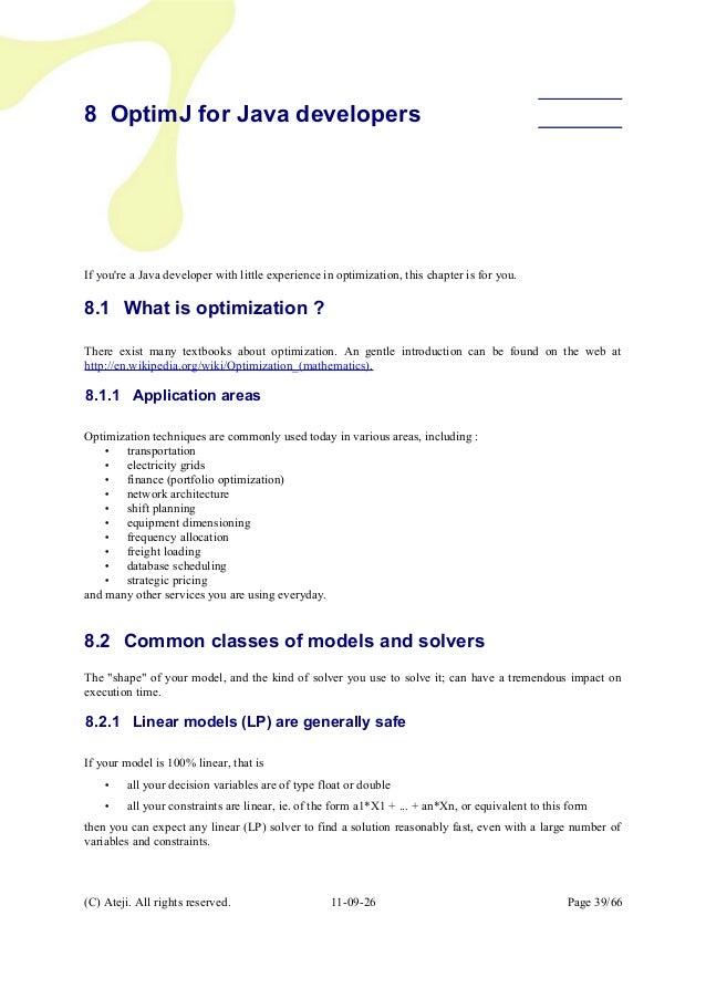 The OptimJ Manual