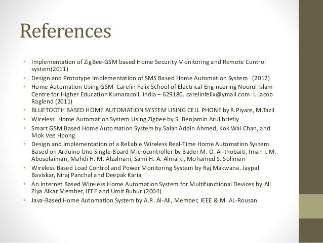 Home Security System Home Security System Literature Review