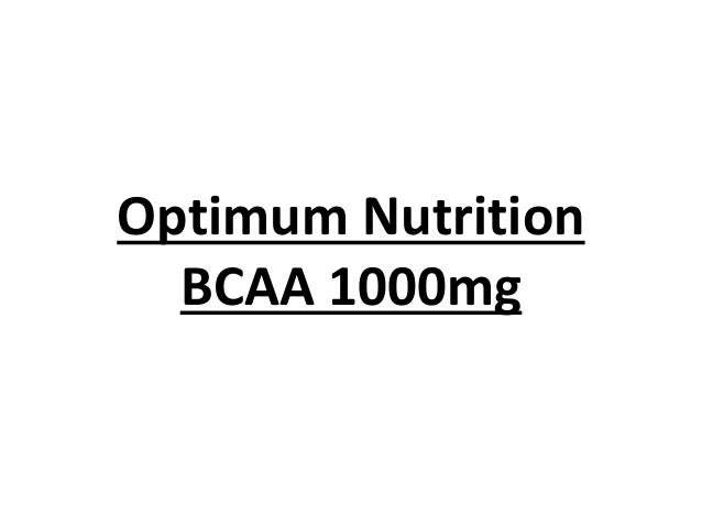 Optimum Nutrition BCAA 1000mg