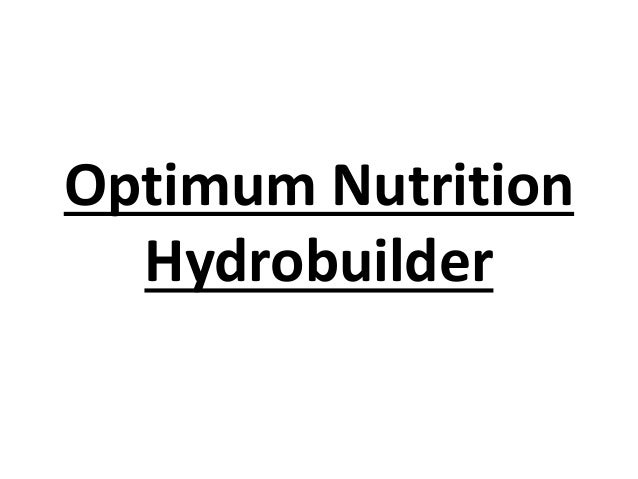 Optimum Nutrition Hydrobuilder