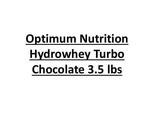 Optimum Nutrition Hydrowhey Turbo Chocolate 3.5 lbs
