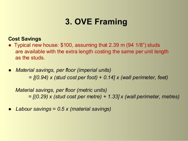 house framing engineering optimum value and engineering integrated design