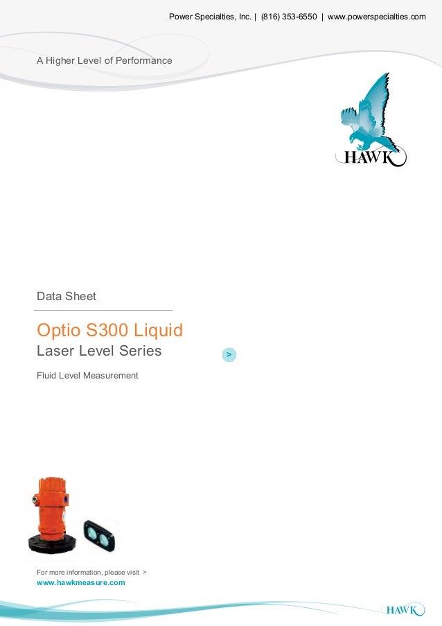 Heading Optio Laser Level Series A Higher Level of Performance Optio S300 Liquid Laser Level Series Fluid Level Measuremen...