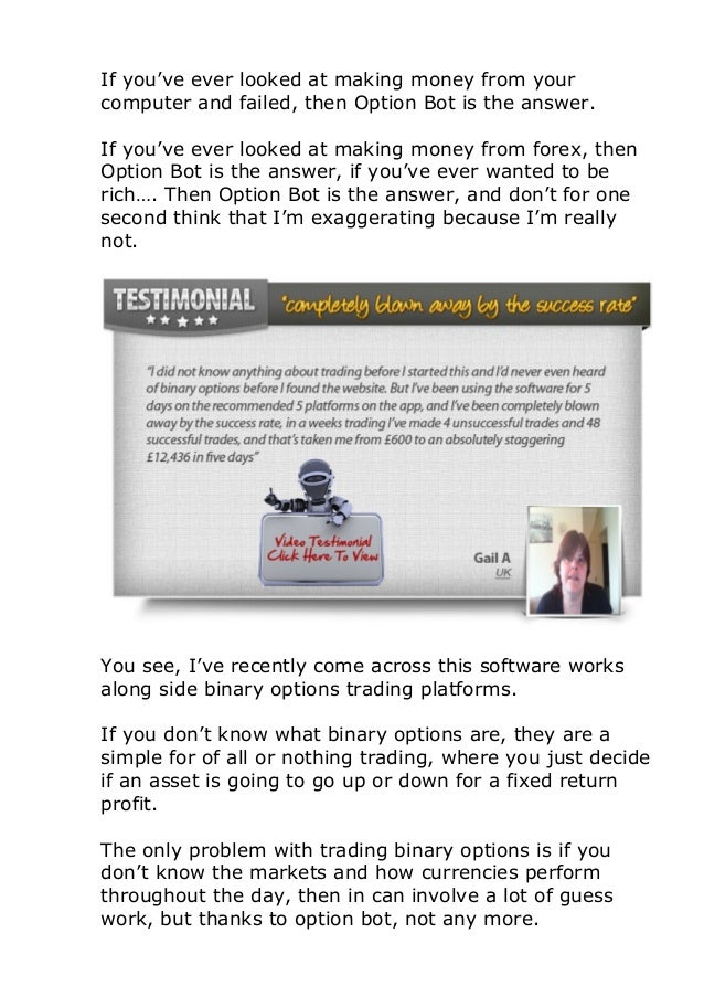 Binary options trading bot reviews