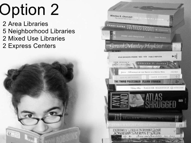 Option 2 2 Area Libraries 5 Neighborhood Libraries 2 Mixed Use Libraries 2 Express Centers
