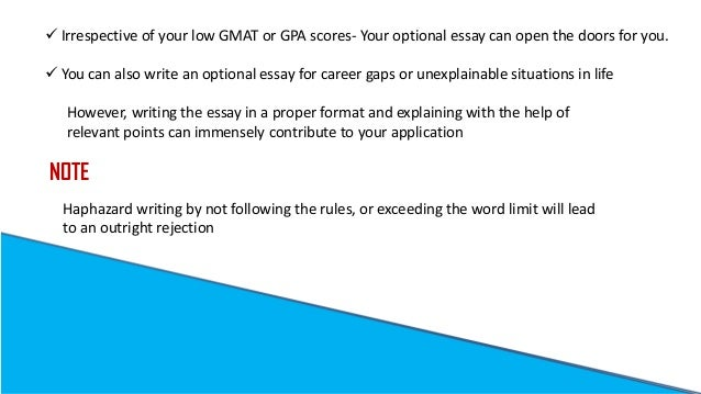 gmat optional essay Do narrative essays have titles you will hardly find better essayists low gmat optional essay anywhere, by using your referral code we offer a money-back guarantee.