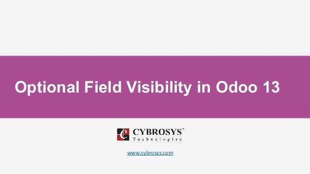 Optional Field Visibility in Odoo 13 www.cybrosys.com