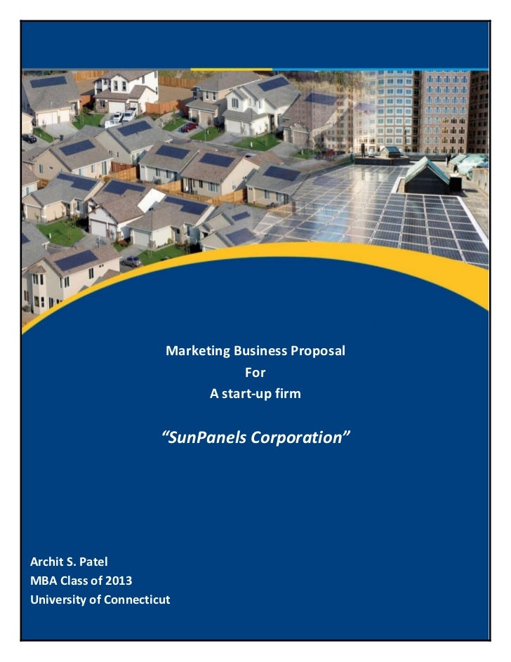 Marketing Business Proposal                                    For                              A start-up firm           ...