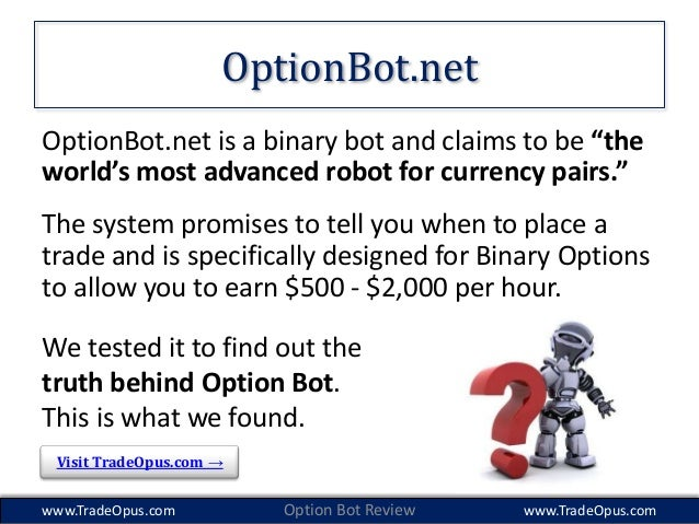 Binary options bots review