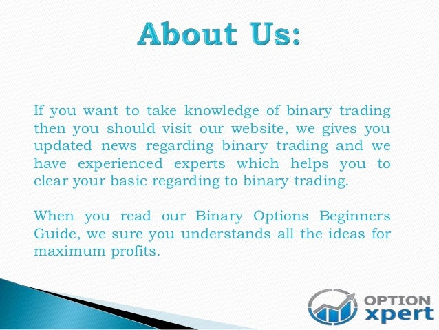 Learning binary options trading