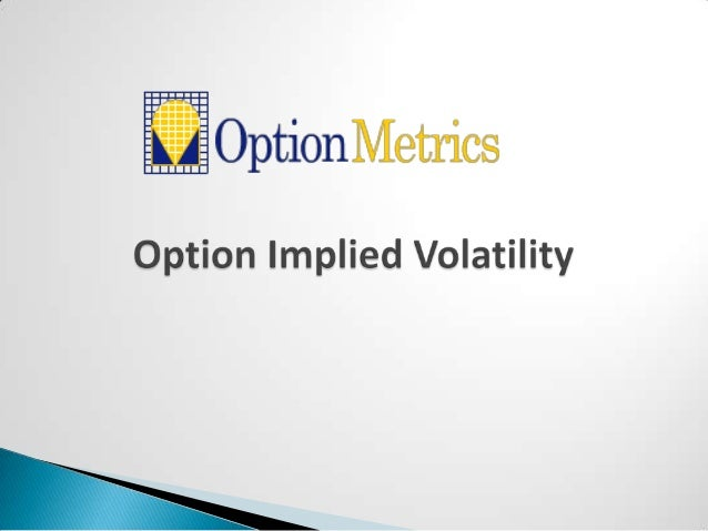 Options implied strategy prices