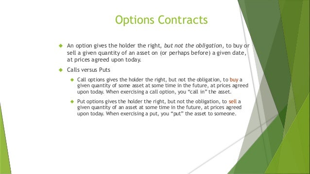 Option trade per contract