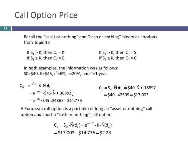 Binary option pde