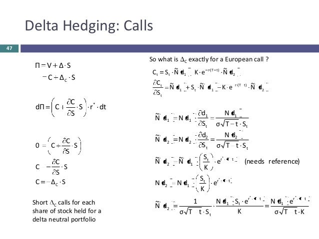 Option trading delta hedge