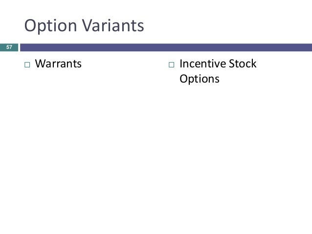 Explanation of incentive stock options