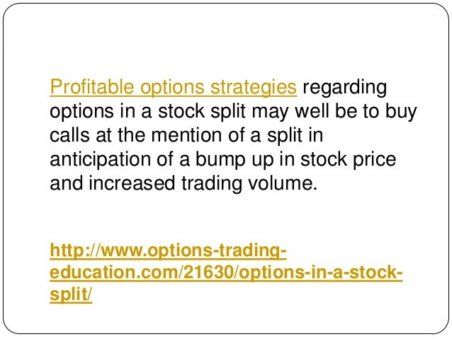 Stock split on options