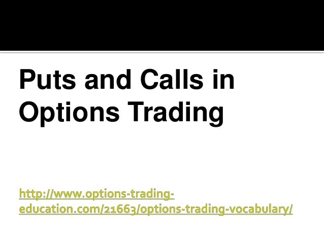 Options trading vocabulary