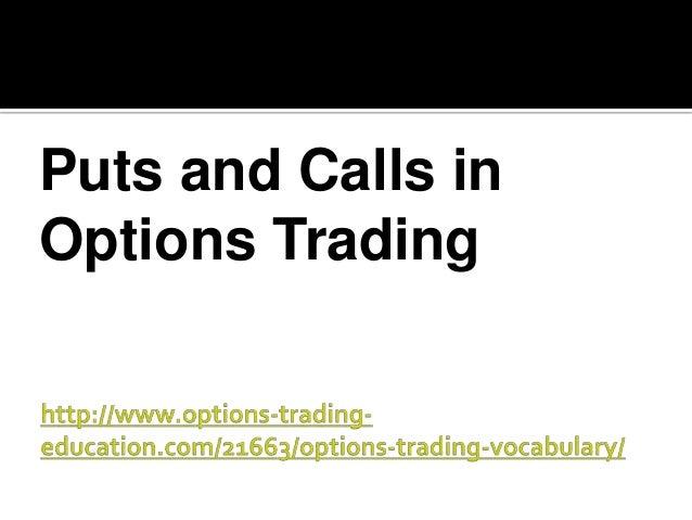 Option trading vocabulary