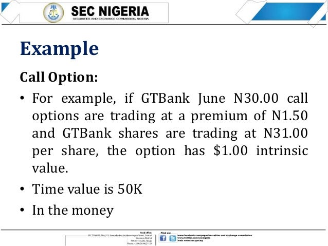 Option trade example
