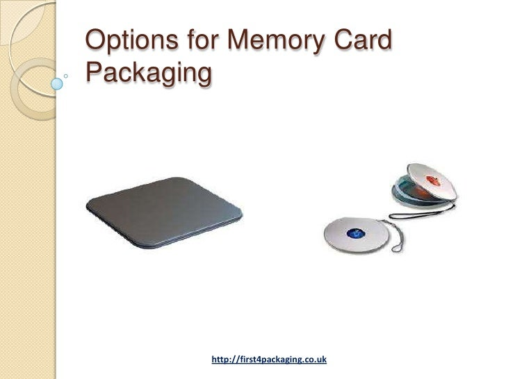 Options for Memory CardPackaging         http://first4packaging.co.uk
