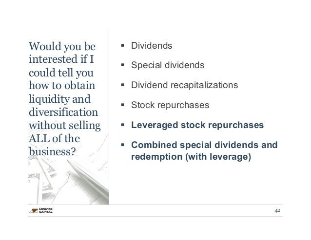 Would you be  interested if I  could tell you  how to obtain  liquidity and  diversification  without selling  ALL of the ...
