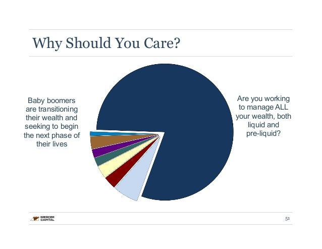 Why Should You Care?  Are you working  to manage ALL  your wealth, both  liquid and  pre-liquid?  Baby boomers  are transi...