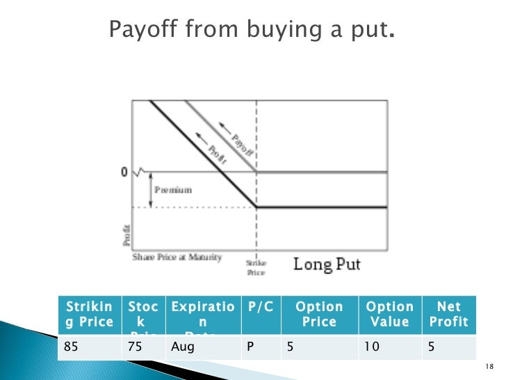 Determining time value of put option Finance Basics