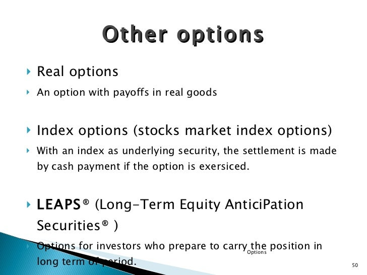 In the money stock options