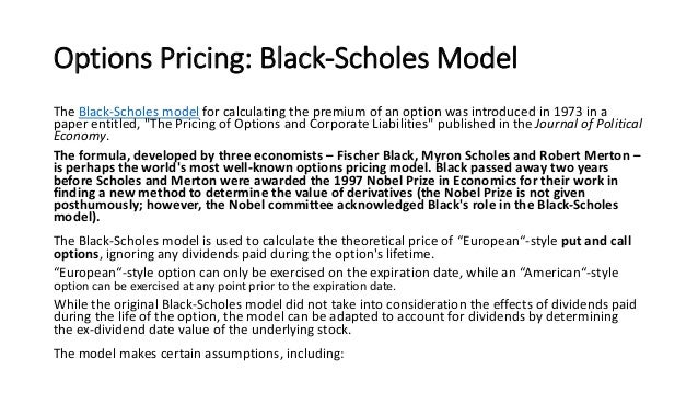 Options industry council 's online pricing calculator