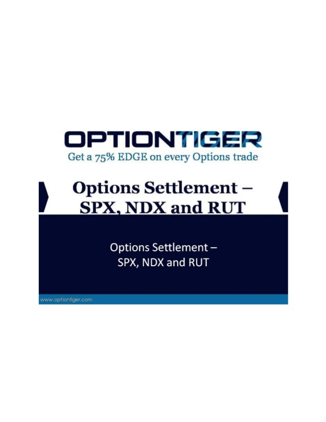 Spx expiration settlement