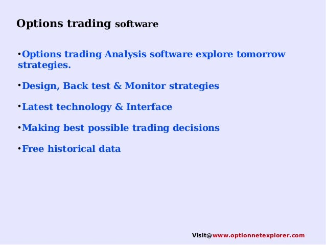 Options trading and analysis software